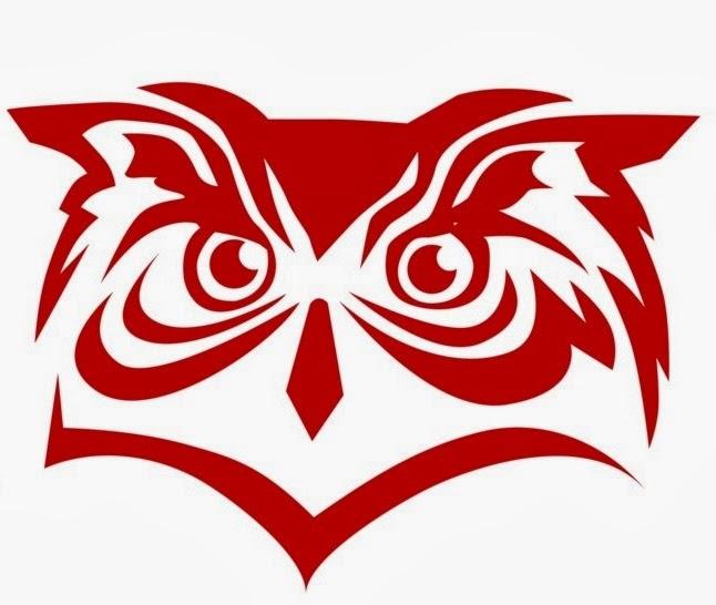 Owl head tattoo stencil