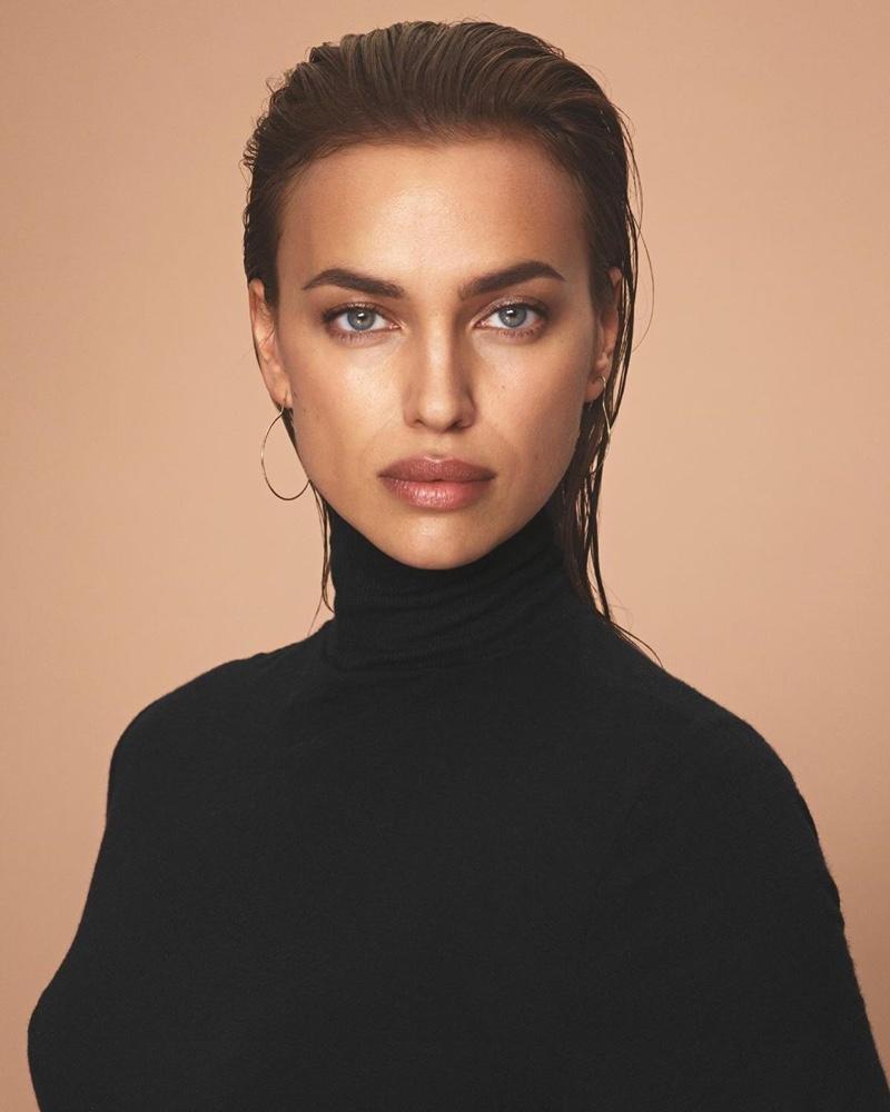 Irina Shayk wears turtleneck sweater in Intimissimi New Fibers campaign