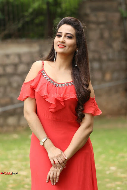 Manjusha looks super cute beautiful in Red Dress ~  Exclusive 010.JPG