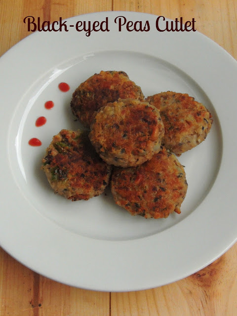 Black-eyed peas Cutlet, Lobia Cutlet