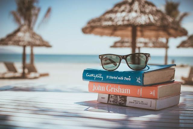 Summer Reading on beach