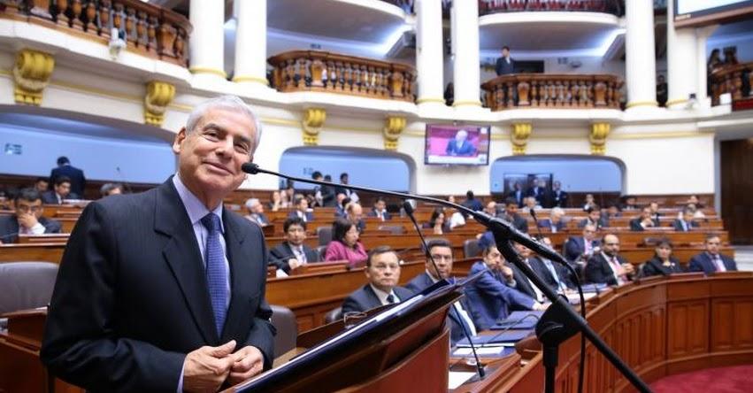 Congreso otorgó voto de confianza a Gabinete liderado por César Villanueva
