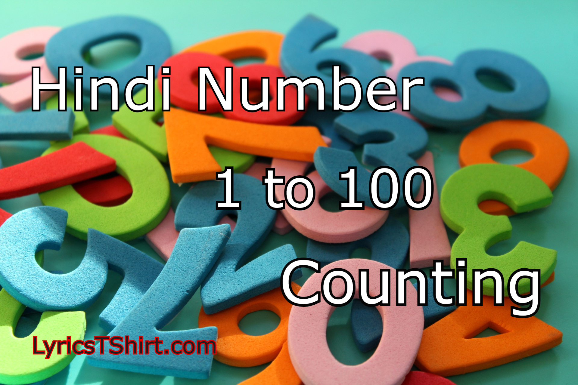 Hindi Number  1 to 100 Counting