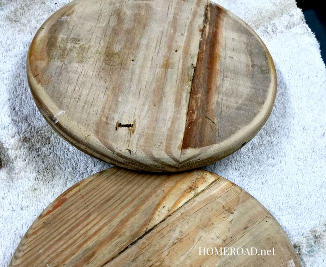 DIY Wooden Spool Twine Organizer