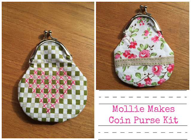 Mollie Makes Coin purse sewing kit