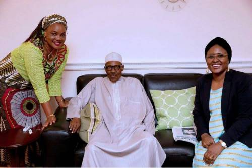 President Muhammadu Buhari and his wife