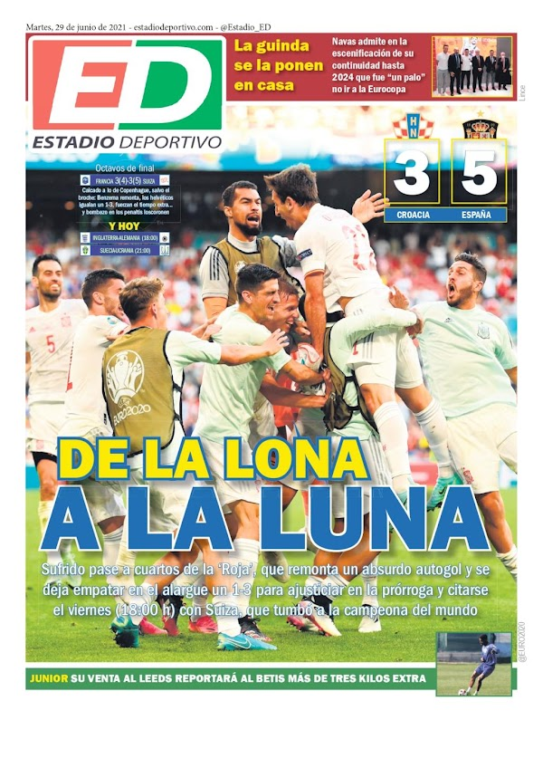 """Estadio Deportivo: """"Junior: Su venta al Leeds reportará al Betis más de tres kilos"""""""