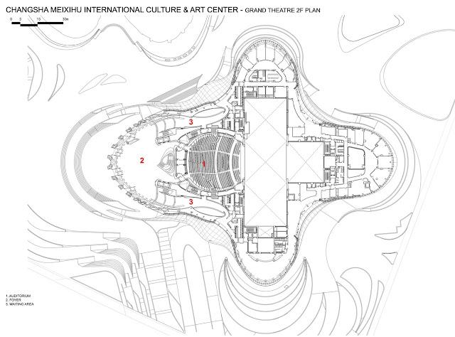 Mặt bằng khối chính của tổ hợp trung tâm Meixihu- Changsha