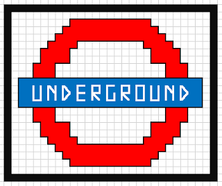 London Underground small mini cross stitch design and pattern
