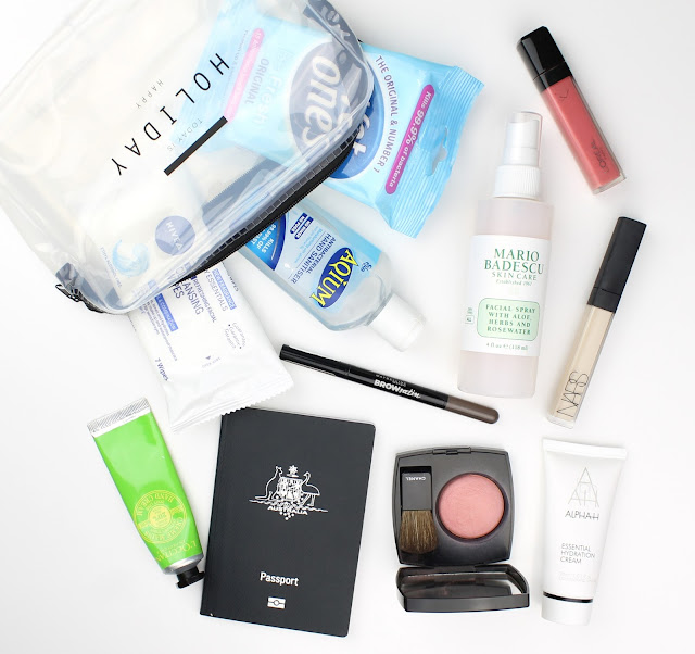 carry on travel essentials beauty must have