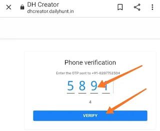 Dailyhunt Creator Program Verify