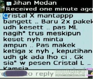 testimoni crystal x