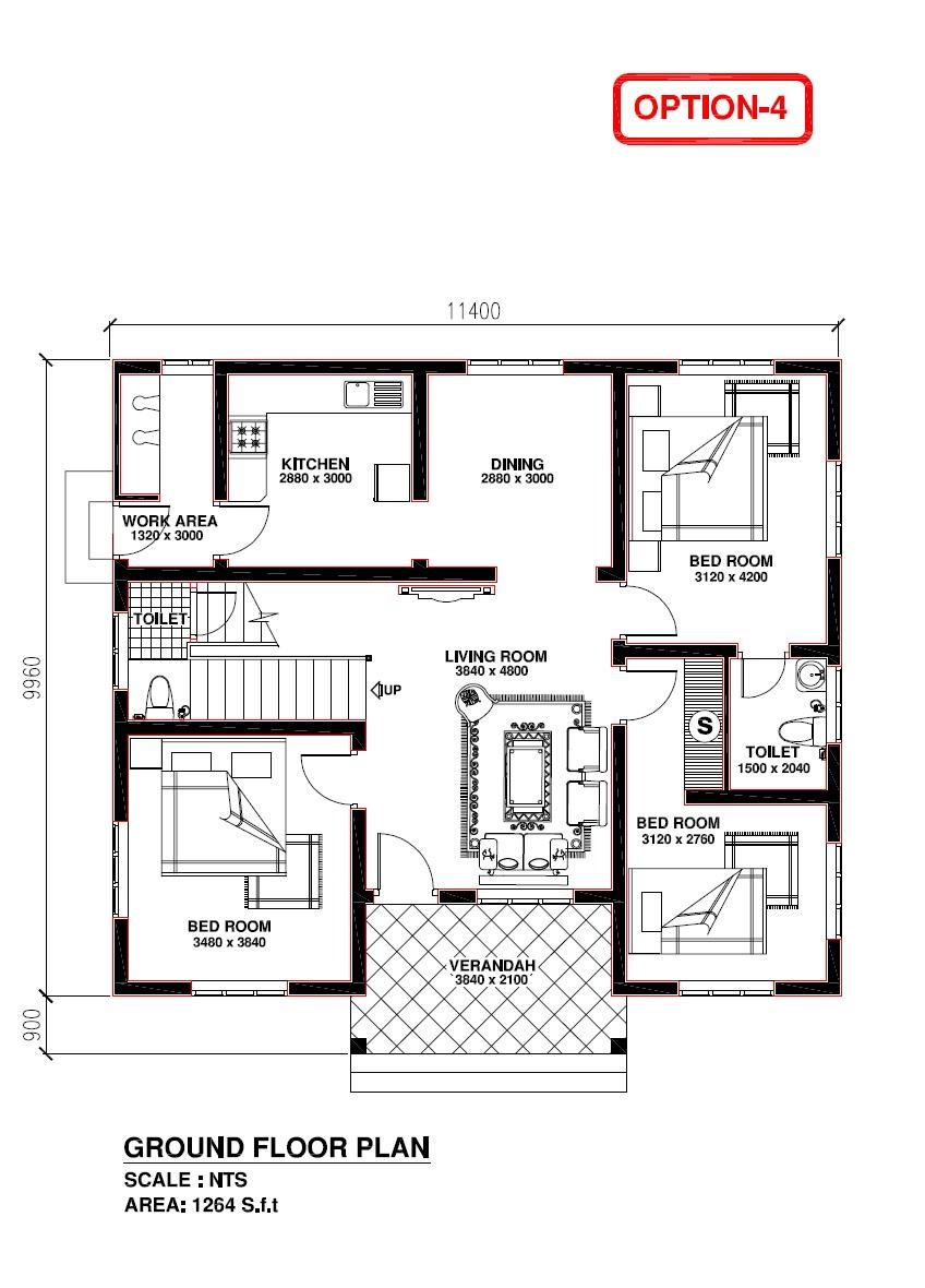 Kerala Model House Plan - Home Design