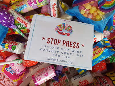 Swizzels 15% off voucher for sweets and gifts valentines