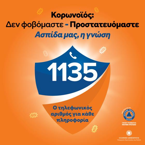 Κορονοϊός: Χρήσιμες συμβουλές προστασίας και ο Αριθμός τηλεφώνου για κάθε πληροφορία