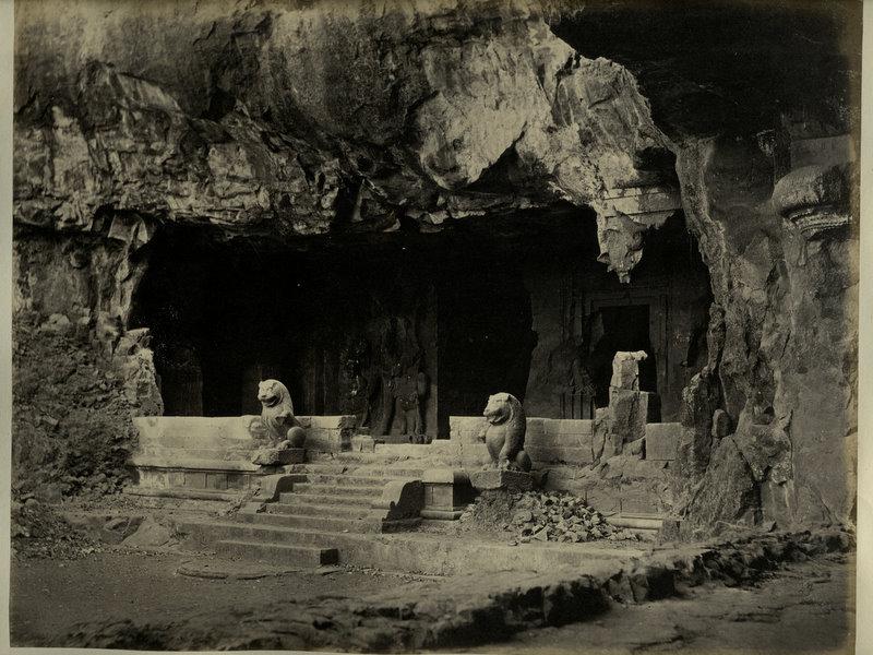 Elephanta Caves - 1870's