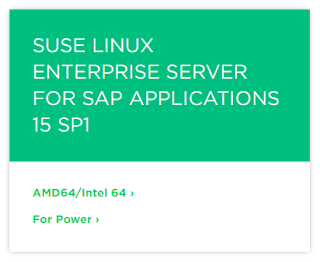 SUSE Linux Enterprise Server for SAP Applications 15 SP1