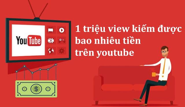 1tr view youtube được bao nhiêu tiền ở việt nam? Chia sẻ thực tế