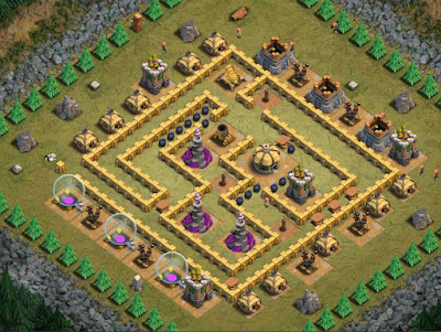 Goblin Base Clash of Clans Mega Evil