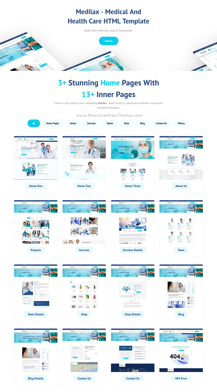 Medical Doctor & Health Care Pharmacy Bootstrap Template