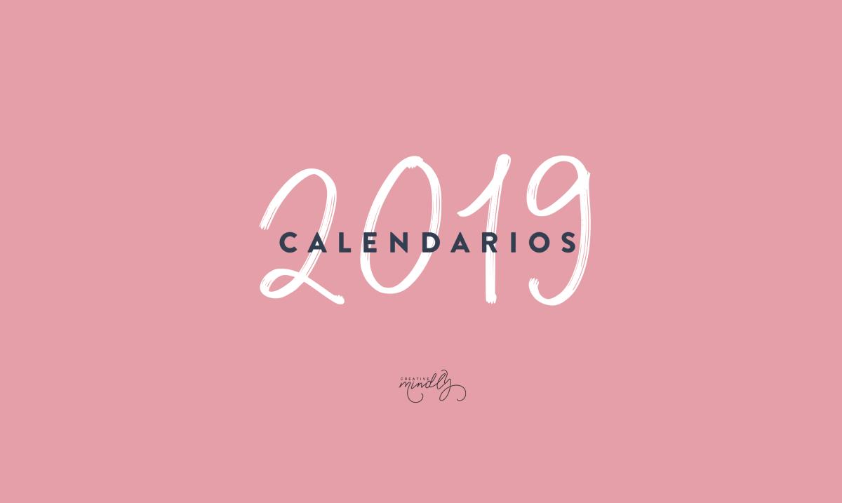 calendarios imprimibles 2019