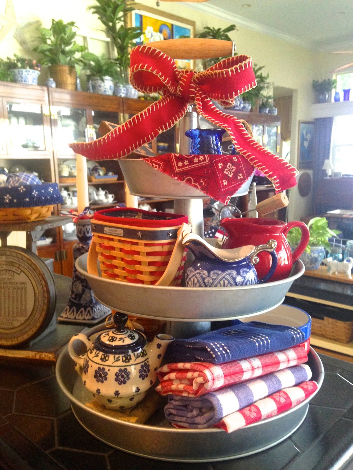 Trays For Decor On Kitchen Counter Ideas: MAY DAYS: Patriotic 3-Tier GalvanizedTray