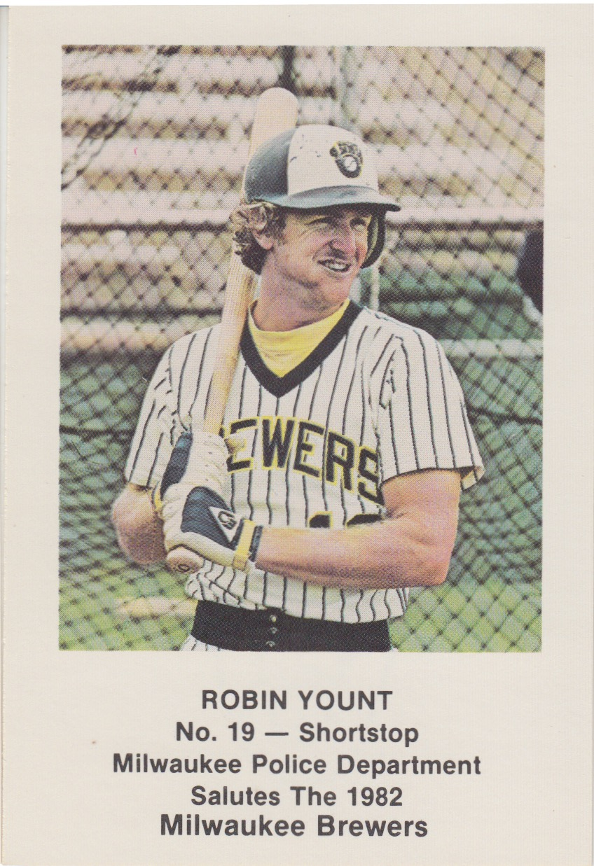 Collecting The 1980s 1980s Milwaukee Brewers Police Cards