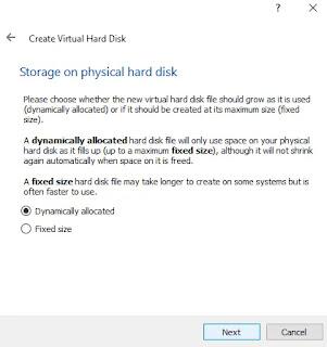 Storage on HDD