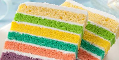 Resep Soft Rainbow Cake