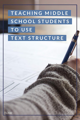It's not enough to know what text structures are, middle school students need to learn how to USE them to analyze text.  See how I do this in 4 steps!