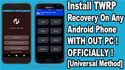 gzandroid: List Of Device Supports TWRP Officially ! How To Install