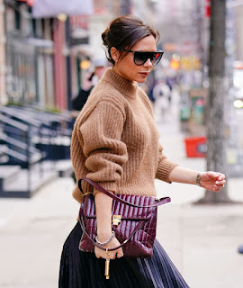 Victoria Beckham Out At New York Fashion Week 2018