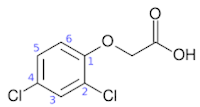 Structure of 2, 4-Dichlorophenoxyacetic acid