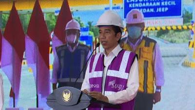 Jalan Tol Pertama Pulau Sulawesi Di Resmikan Presiden Joko Widodo