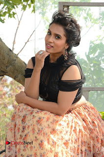 Actress Chetana Uttej Stills in Floral Long Skirt at Pichiga Nachav Movie Press Meet  0078.JPG