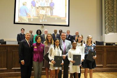 Montgomery Catholic Girls Indoor Track Team Honored by Mayor Strange 2