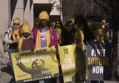 Sowore's Wife, Children And Supporters Protest In United States (Video)