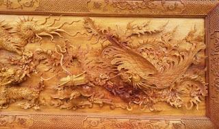 tranh gỗ hình rồng