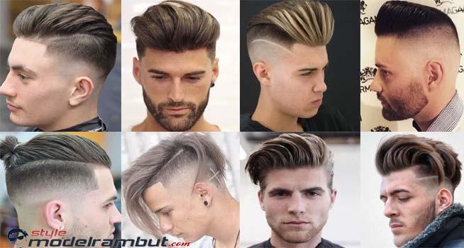 model gaya rambut undercut slick back klimis