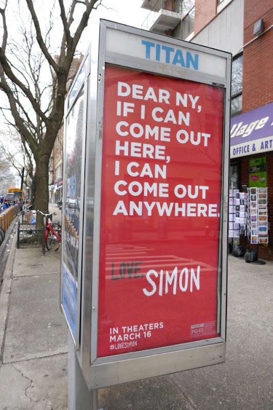 Dear NY Love Simon poster ad New York