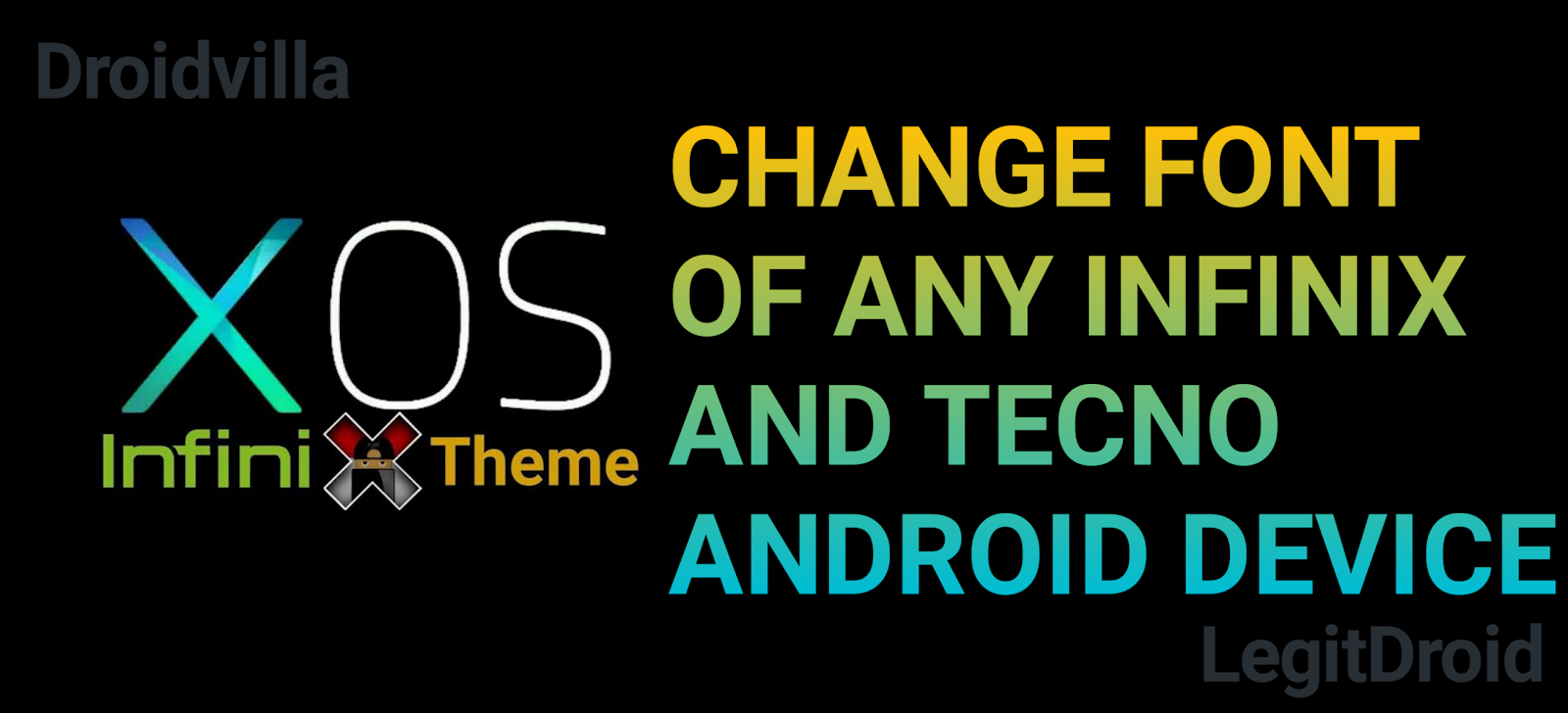 Infinix font tecno change