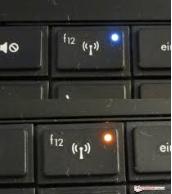 Tampilan tombol fungsi wifi di keyboard