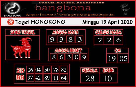Prediksi HK 19 April 2020 - Bang Bona HK