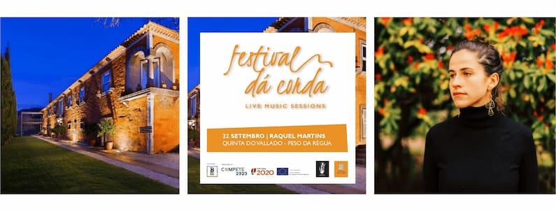 A edição do Festival Dá Corda continua no próximo dia 22 de Setembro com o concerto de Raquel Martins na Quinta do Vallado Wine Hotel no Peso da Régua.