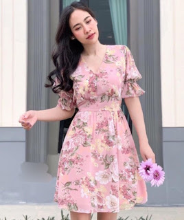 model floral dress wanita terbaru 2021