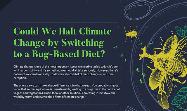 Could We Halt Climate Change by Switching to a Bug-Based Diet? #infographic