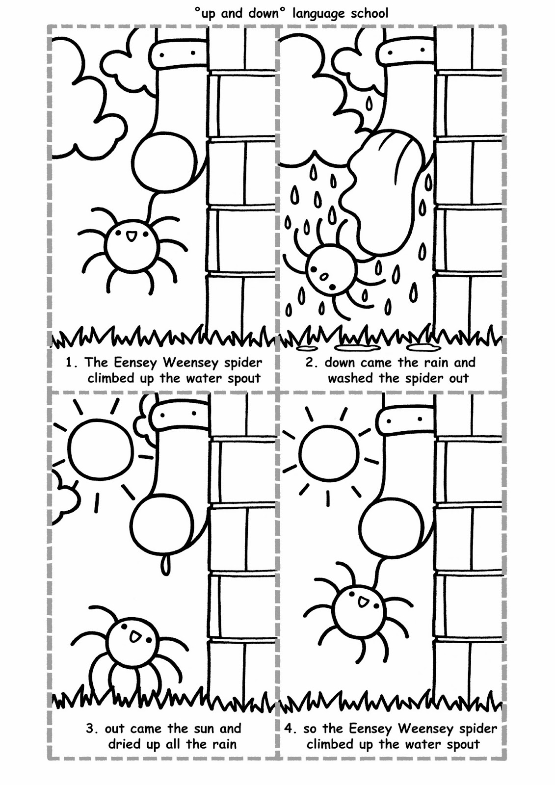 Workbooks spider worksheets : Up And Down: WORKSHEETS