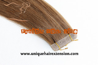 European hair  tape weft