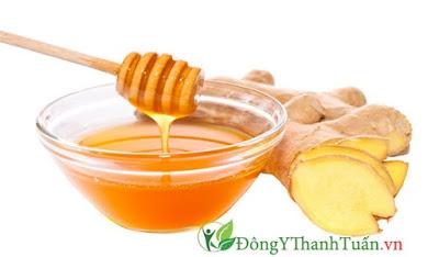 Cách chữa viêm họng tại nhà bằng gừng và mật ong