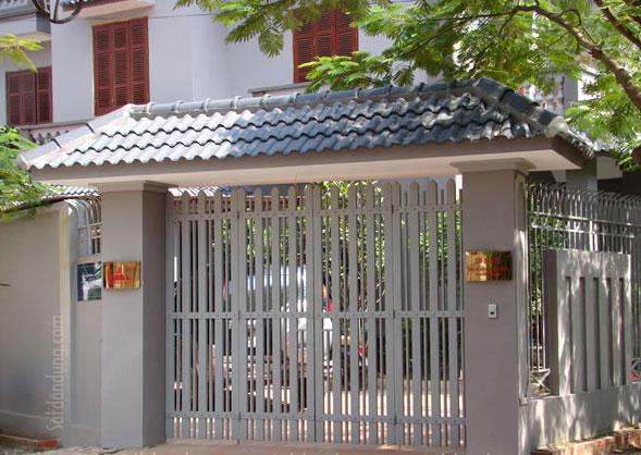 Mẫu cửa cổng sắt GH16 tuyệt đẹp giá rẻ